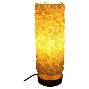 Decorative Table Lamp with Natural Coral Shells Detail