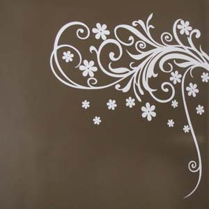 Modern Graphic Inspired Blooming Flowers Wall Decal