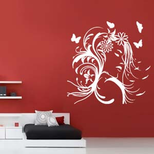 Modern Woman Inspired Pretty Face Wall Decal