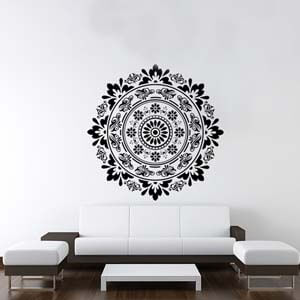 Ethnic Indian Inspired Circle Of Life Wall Decal