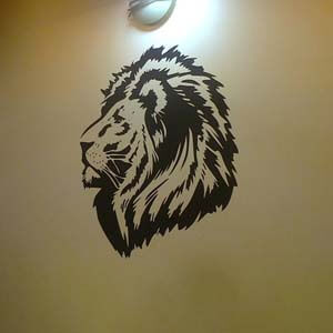 Birds and Animals Inspired Lion Face Wall Decal