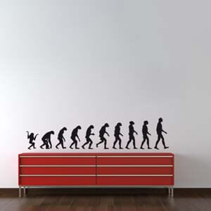 Modern Graphic Inspired Human Evolution Wall Decal