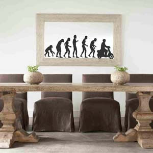 Wall Decal Depicting Modern Man's Evolution
