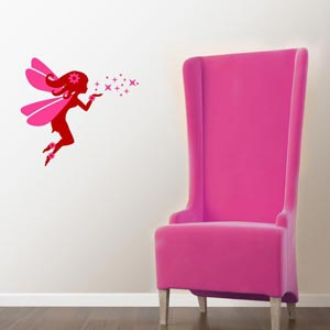 Chipakk HD Magic Dust Fairy Wall Decal with a Matte Finish - Red ...