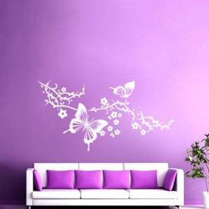 Nature Inspired Butterflies on the Branch Decal