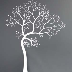 Nature Inspired Swinging Tree Wall Decal