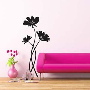 Nature Inspired Perky Poppies Wall Decal