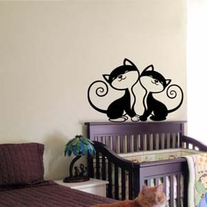 Birds and Animals Inspired Love Cats Wall Decal