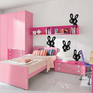 Birds and Animals Inspired Funny Bunnies Wall Decal