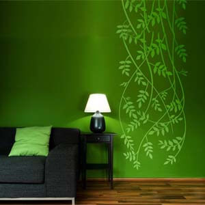 Modern Graphic Inspired Vines Wall Decal