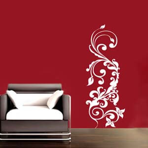 Modern Graphic Inspired Floral Graphic Wall Decal