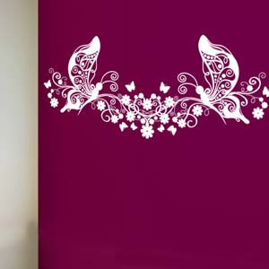 Modern Graphic Inspired Butterfly Art Wall Decal