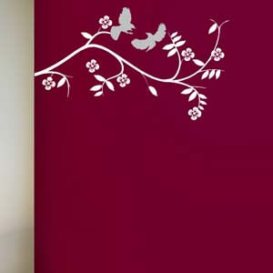 Nature Inspired Playing Birds Wall Decal