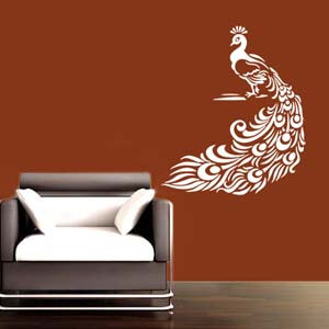 Birds and Animal Inspired Peacock Wall Decal