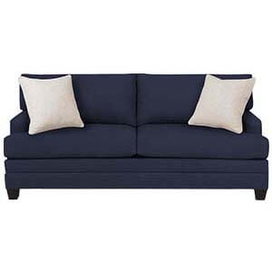 Transitional Loveseat Sofa with Track Arms