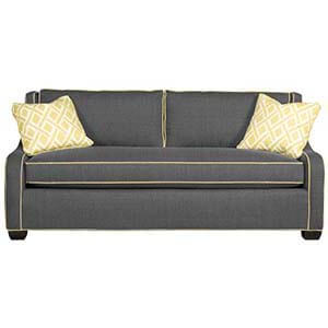 Wooden Two Seater Sofa with Cushions
