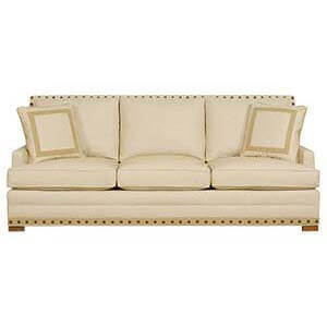 Three Seater Sofa Set with Handcrafted Upholstery