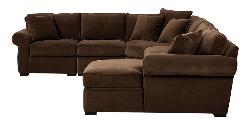4 Piece U Shaped Sectional Sofa With Chaise