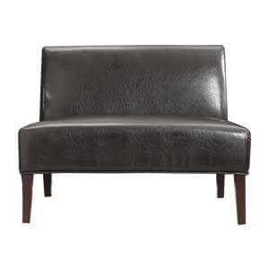 Small Leather Sofa with Armless Style