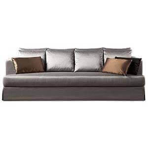 Transitional Sofa with High Kick Pleat Detail
