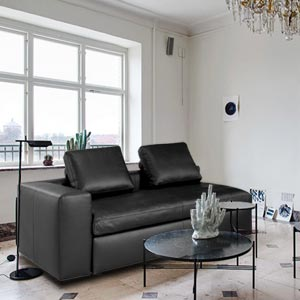 Contemporary 2 Seater Leatherette Loveseat Sofa Modular Wide Back...