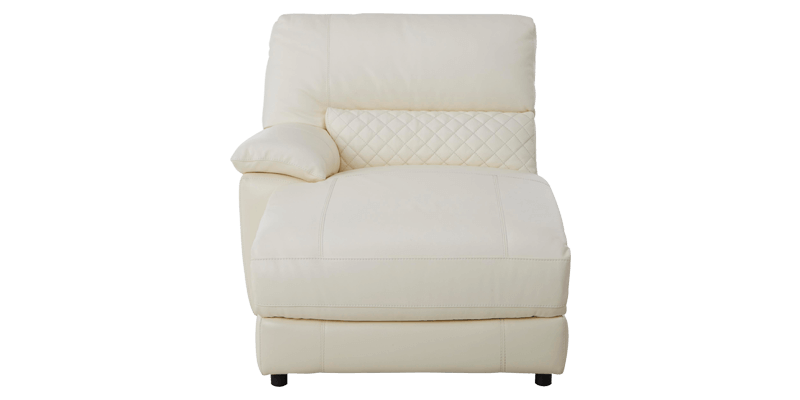 2 Seater Upholstered Chaise Lounge in Leatherett...