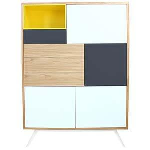Modern Cabinet with a Colored Interior Unit