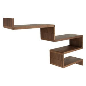 Contemporary Wallshelf with a Continous Pattern that forms Shelve...