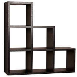 Contemporary Wallshelf with Multiple Cubbies for Storage