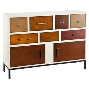Transitonal Cabinet with Colored laminate finishes and Classic Kn...