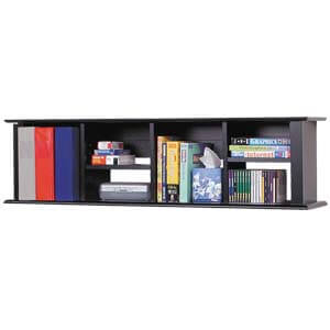 Transitional Wallshelf with Sturdy Frame and Pencil Edge