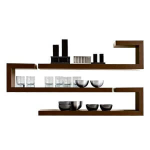 Contemporary Wallshelf with a Free Form Silhouette