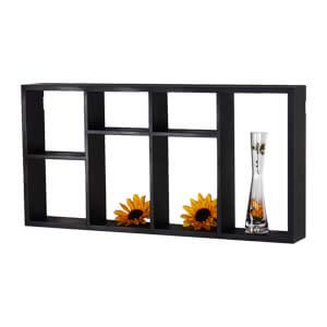 Contemporary Rectangular Wide Wall shelf with Eight Open Storages...