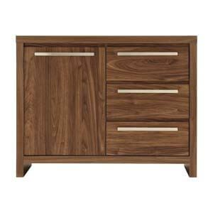 Contemporary Sideboard with Long Metal Pulls and 3 Drawers