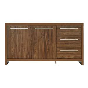 Contemporary Sideboard with Long Metal Pulls and Plank Legs