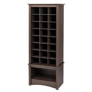 Transitional Style Tower Shoe Rack with Multi-cubbies