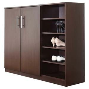 Contemporary Style Shoe Rack Cabinet with 5-tier Open Storage