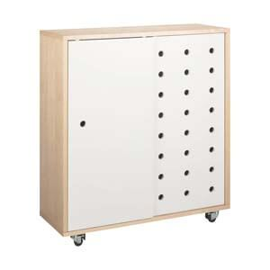 Contemporary Shoe Rack with Slider Doors and Spacious Storage