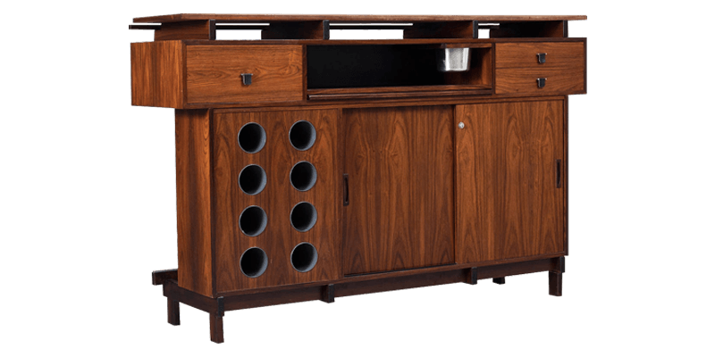 Brown Bar Storage Cabinet With Multi Functional Storage