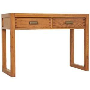 Oak Modern Console Table with Frame style Legs