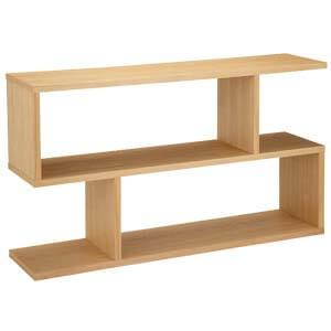 Oak Modern Console Table with a Zigzag Style Silhouette
