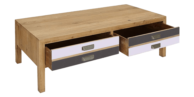 Rustic coffee table with 4 drawer for Rustic coffee table with drawers
