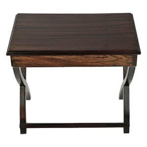 Transitional Rectangular End Table with Criss Cross Legs