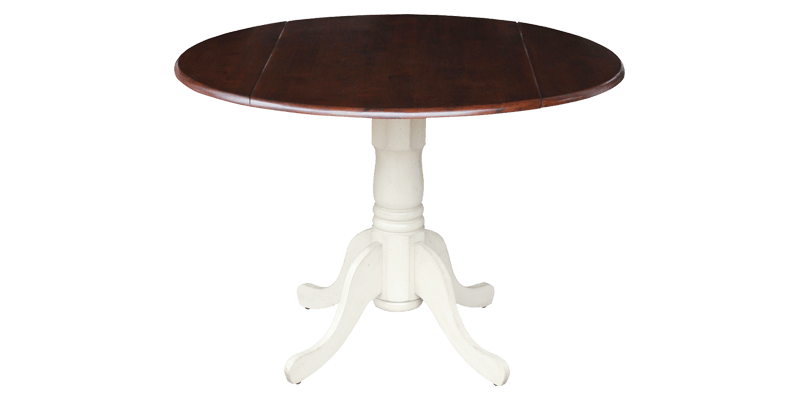 Folding Round Dining Table featuring Pedestal Ba...
