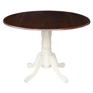 Folding Round Dining Table featuring Pedestal Base