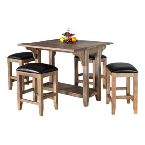Folding Dining Table featuring Flat edges