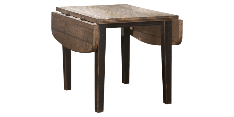 Wood Folding Dining Table featuring Angled Legs