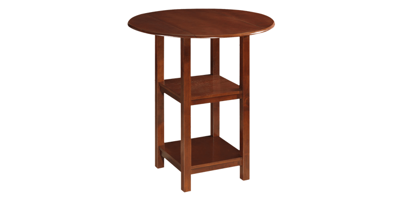 Folding Round Dining Table with Storage
