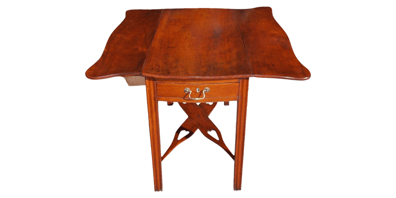 Folding Dining Table featuring Classic Cross Str...