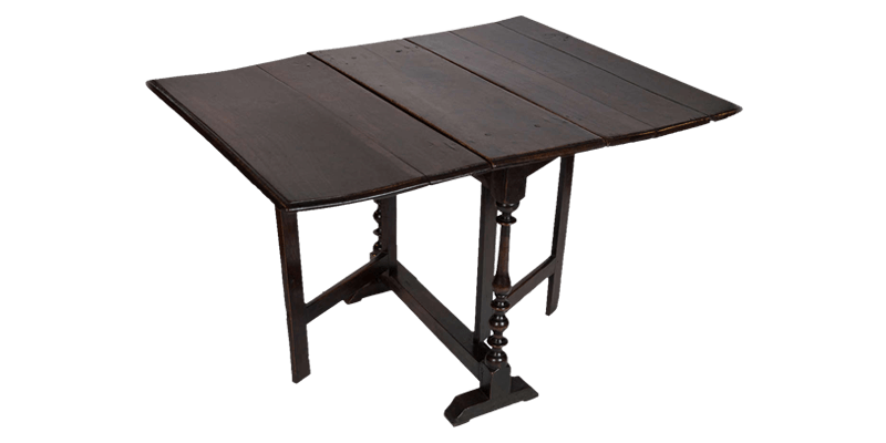 Antique Brown Foldable Wooden Dining Table